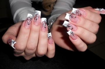 Маникюр на длинных ногтях фото рисунки красивые